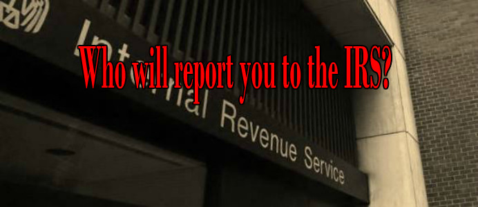 usa tax return who reports to the irs