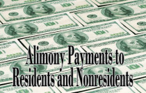 alimony payments to residents and nonresidents tax