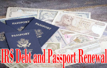 irs debt passport renewal traveling